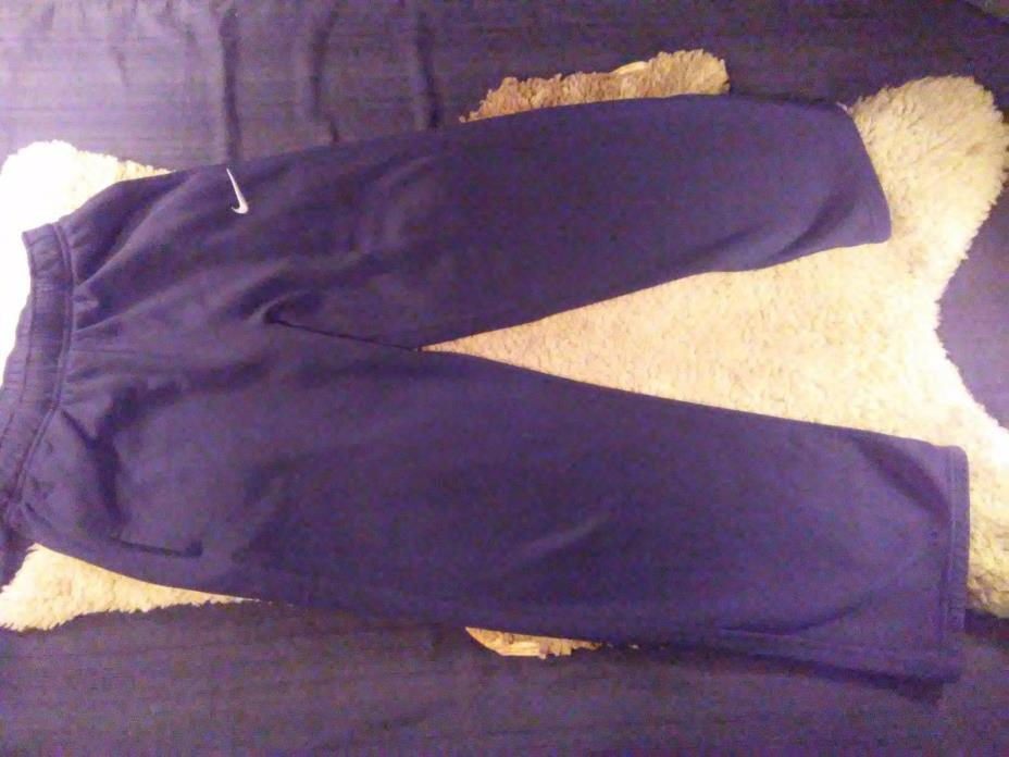 Nike Dri Fit Therma Fit Youth L Athletic Black Fleece SweatPants Sports Training