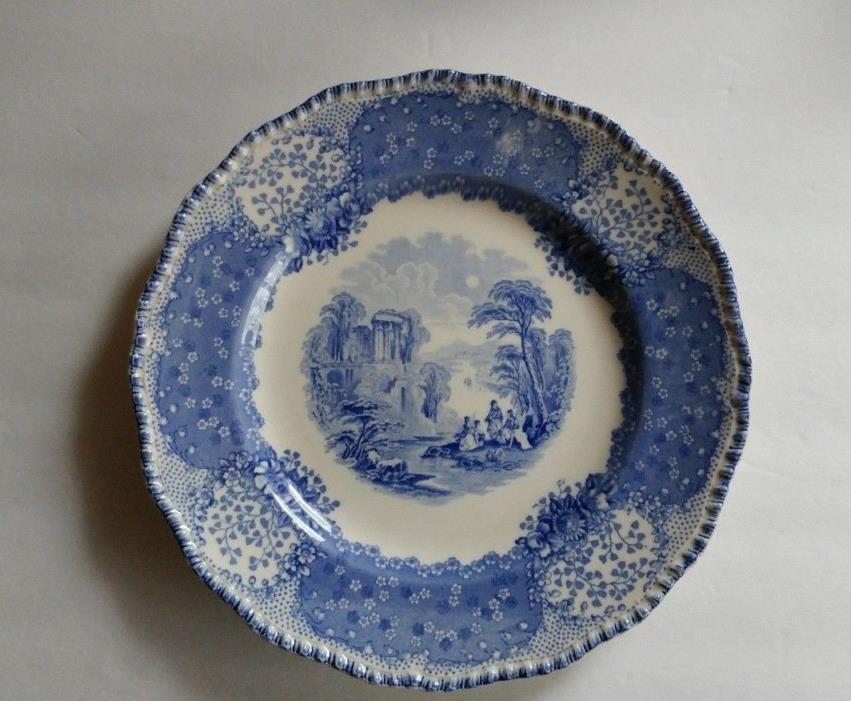Rare Antique English Flow Blue Royal Doulton 9