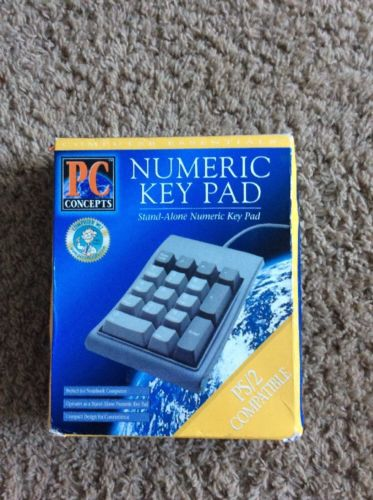 PC Concepts PS/2 Numeric Key Pad New In Box