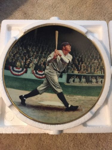 1992 Legends of Baseball Babe Ruth The Called Shot Collector Plate with COA