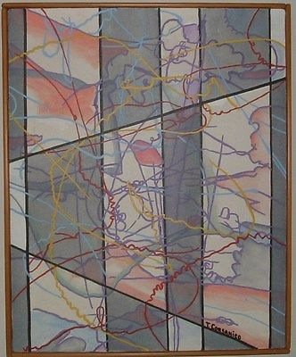 KINETIC ENERGY, Oils & Acrylics, 16 x 20, 1982, CORSANICO, INVEST IN ART