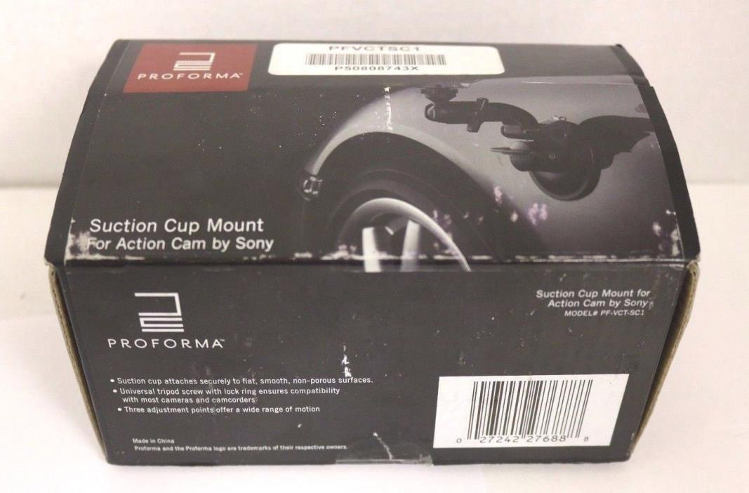 PROFORMA SUCTION CUP MOUNT FOR SONY ACTION CAM PF-VCT-SC1 BLACK