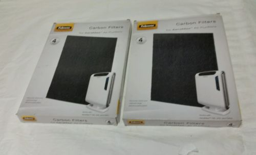 (Lot Of 2) Fellowes Carbon Filters Aeramax Air Purifiers 190,200,DX55 4pk