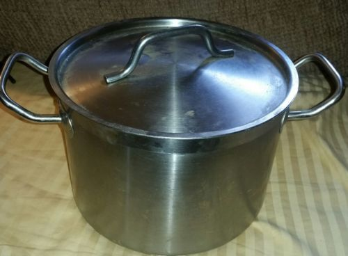 Winco SST-8, 8-Quart 6.75-Inch High 9.5-Inch Diameter Stainless Steel Stock Pot