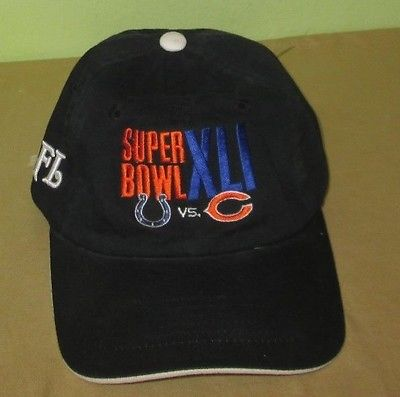 New  Vintage  SUPER BOWL XLI   NFL Reebok HAT Miami  Circa 2007  BEARS vs COLTS