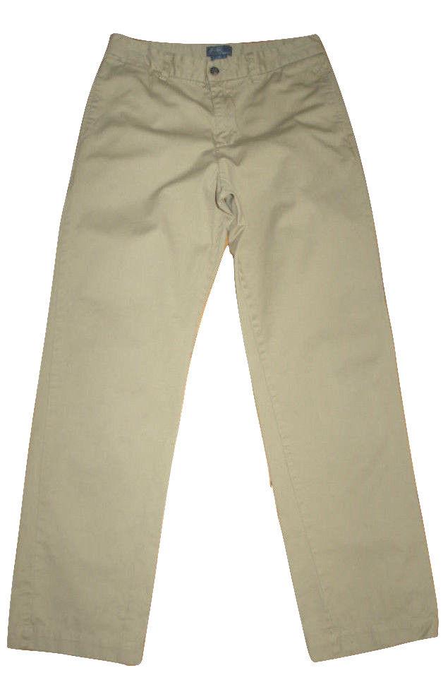 Boys Polo Ralph Lauren Flat Front Chino Khaki Pants Size 12 NWT