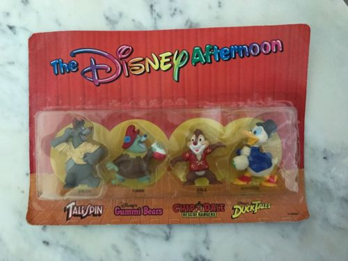 Vintage Disney Figures NIB Baloo Gummi Bears Chip N Dale Duck Tales Kellogg's
