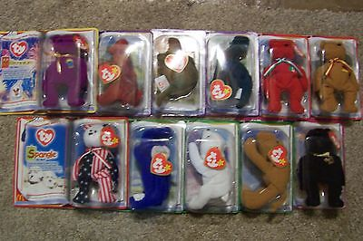 11 Lot McDonalds TY Beanie Babies 2000 Dinosaur, Int'l, Legends & more, NEW