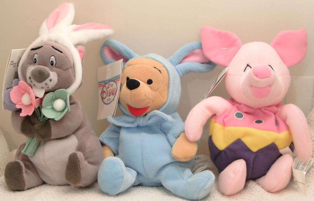 COLLECTORS! Easter Pooh Bear-Easter Egg Piglet-Easter Bunny Gopher w/FREE Ship