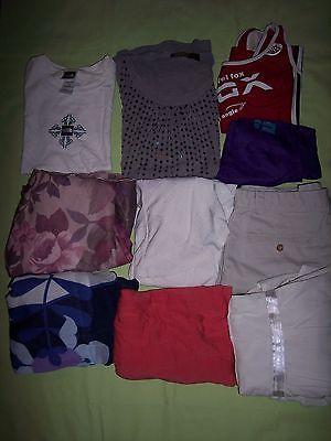 10 pc Lot  - womens  dresses, shirts, tanks, shorts - assorted dress up