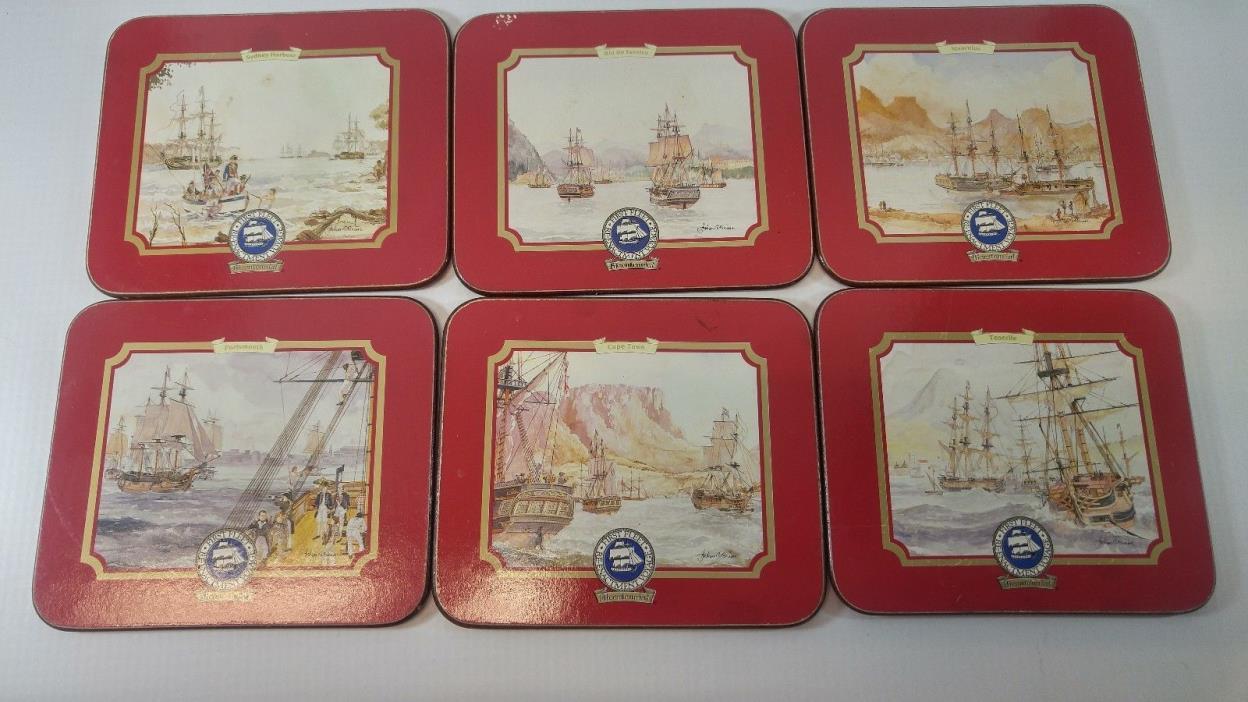First Fleet Bicentennial Re-Enactment Voyage Coasters Set of 6