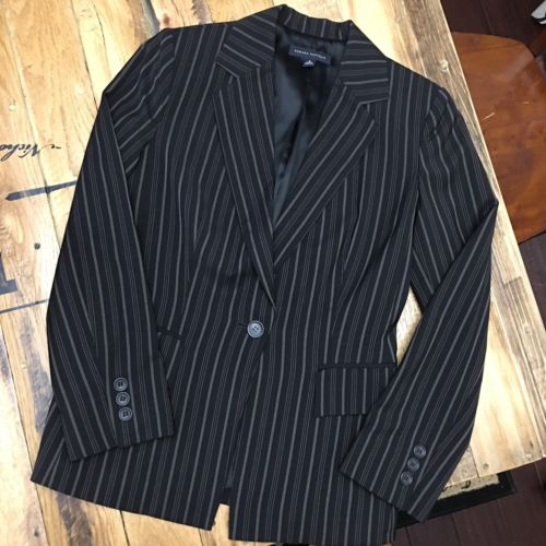 Banana Republic Blazer Size 2 Small Black with stripes Modern Career