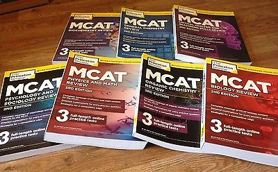 (Like NEW) Princeton Review MCAT 3rd ed (complete 7 Books)
