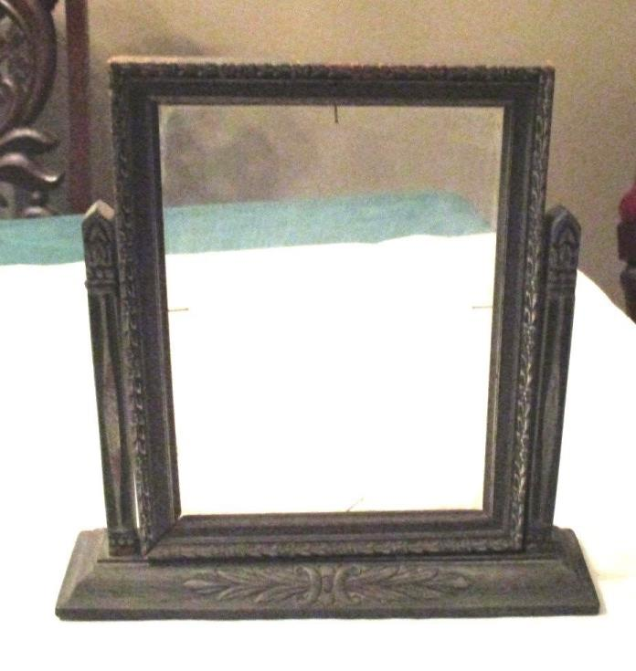 ANTIQUE TILT OR SWIVEL PICTURE FRAME WITH GLASS, 10