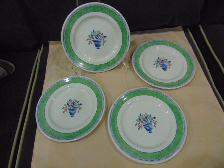 Lot of 4 Johnson Bros Jardiniere Green Salad Plates 7 3/4
