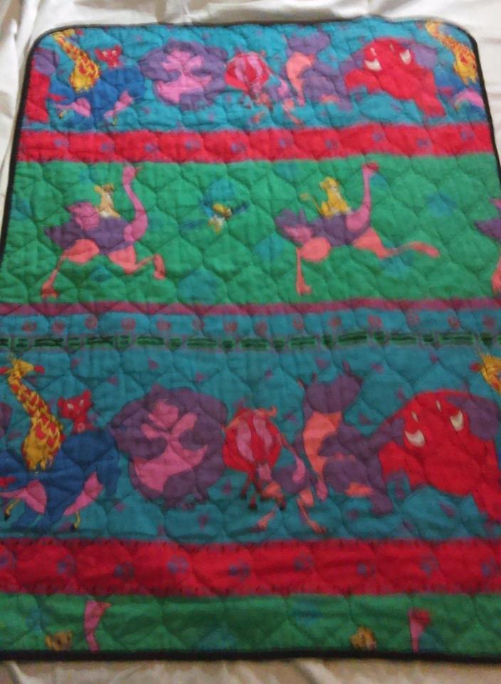 Vintage Disney Lion King Crib Comforter Blanket Toddler
