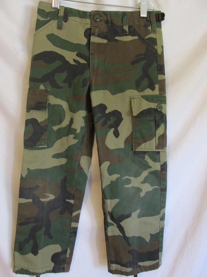 Boys Jr. GI by Rothco Camouflage Tactical BDU Military Cargo Pants Size 6  #10