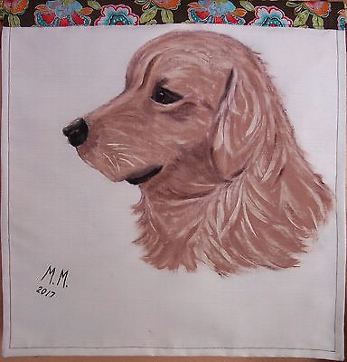 Golden Retriever wall decor, Hand painted original, wall painting, dog wall art