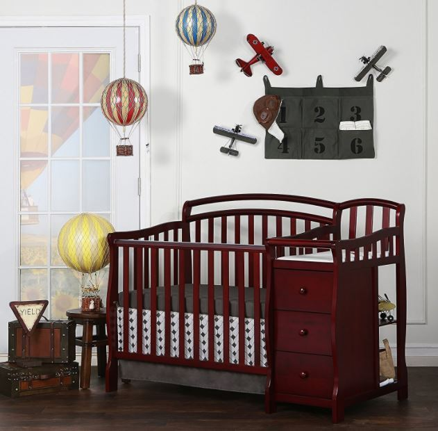 Baby Cribs With Changing Table Mini Crib Bed Dressing Nursery Infant Toddler
