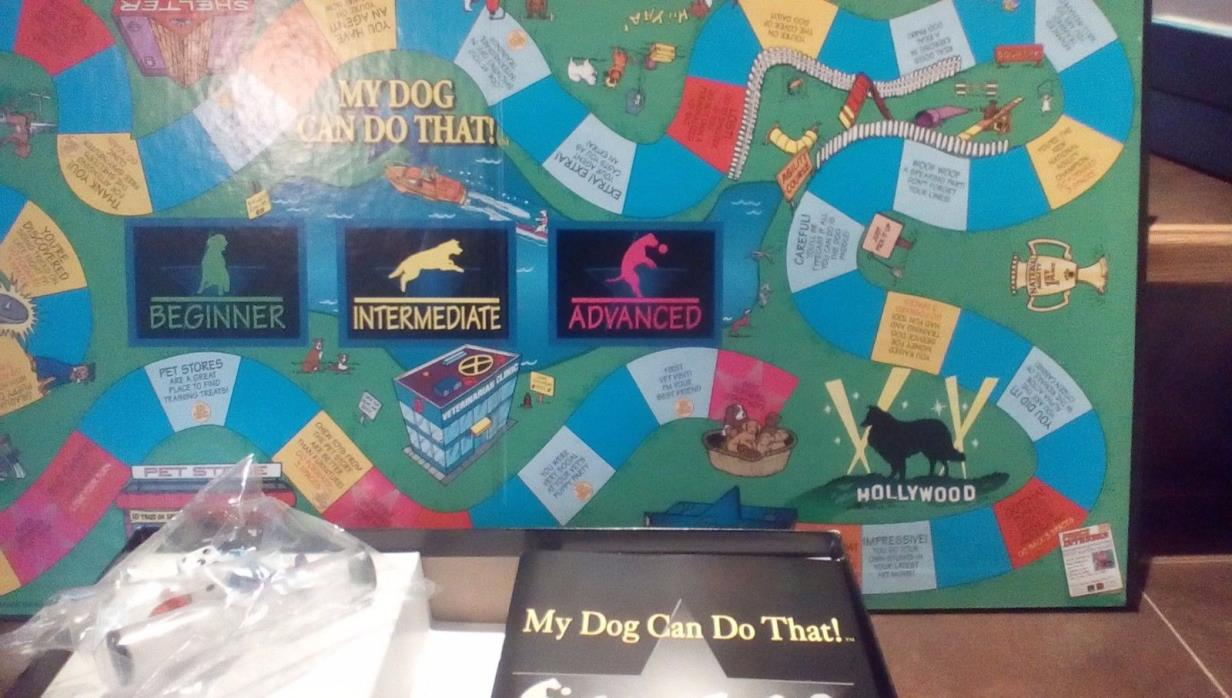 My Dog Can Do That! Board Game 1996 Obedience Training Fun 100% Complete