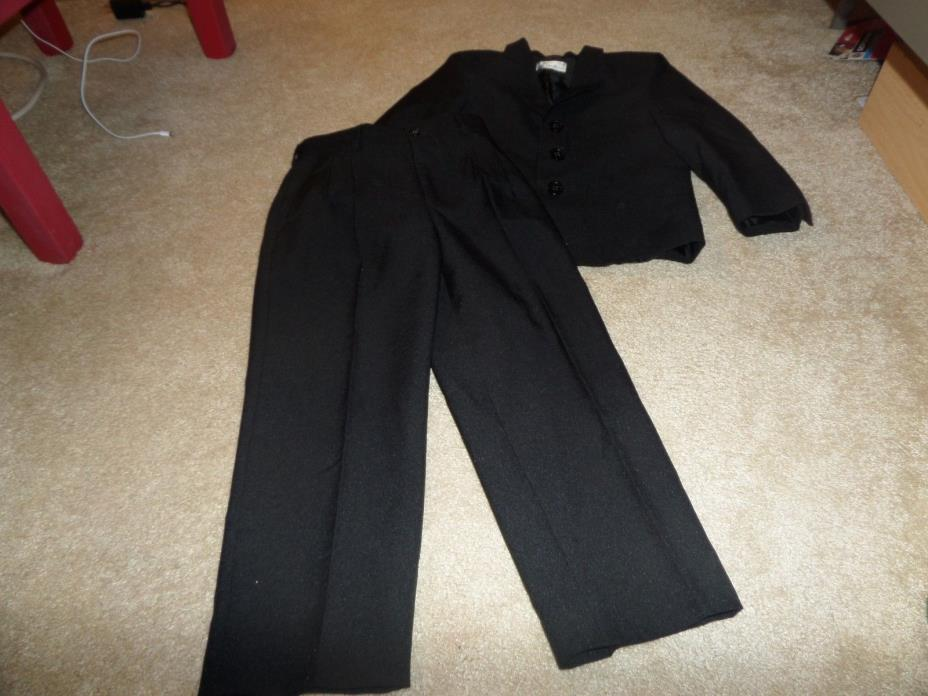 Boys Black Polyester Black Suit Size 6