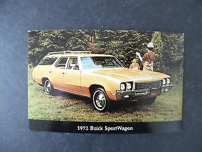 1972 Buick Station Wagon Car Advertising Postcard