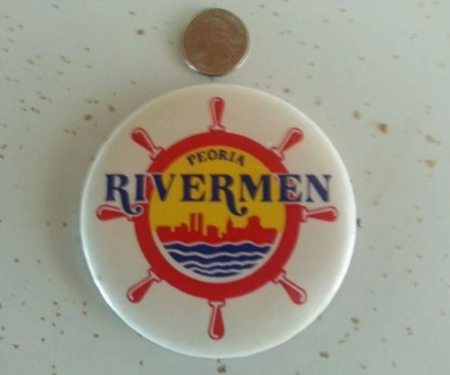 1980's Peoria Rivermen hockey  button Illinois