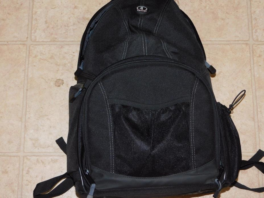 Photogrphy: Tamrac camera backpack black, holds 2 camera bodies plus lenses and