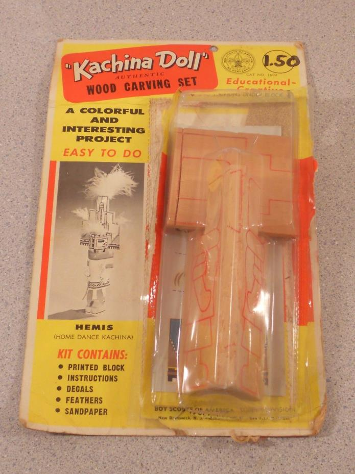 ALL WOOD KACHINA DOLL CARVING SET KIT HEMIS