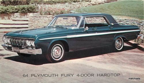 1964 Plymouth Fury 4 door Hardtop automobile dealership 23