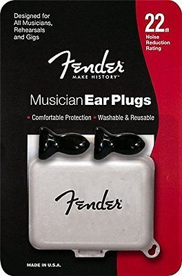 Fender Musician Ear Plugs, 1 Pair with Case