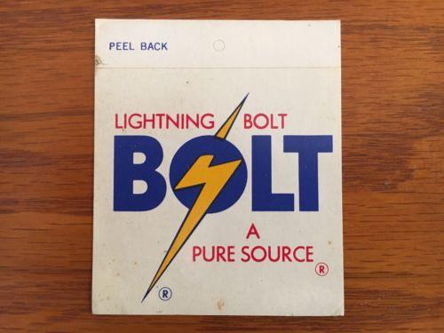 Lighting Bolt surfboard sticker vintage 70s decal surfing Surf