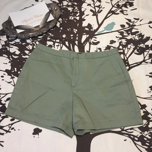 Dockers 14 Trouser Shorts Olive Green Flat Front 12
