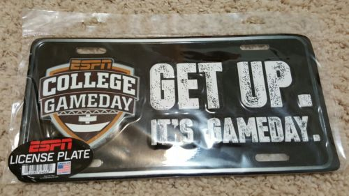 ESPN College Game Day Metal License Plate *Brand New* Sports. Decorate.