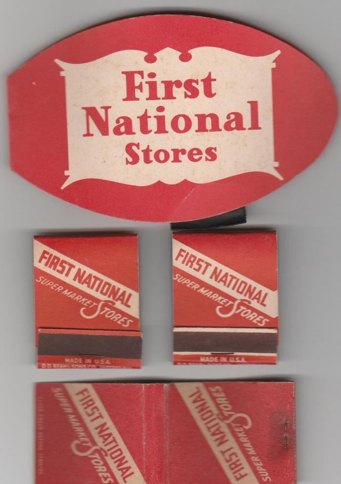 VINTAGE LOT,FIRST NATIONAL STORES,MATCHBOOKS,NEEDLE BOOK,RARE PREMIUMS