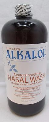 Alkalol Nasal Wash Liquid 16 fl oz (473ml) EXP 3/2019