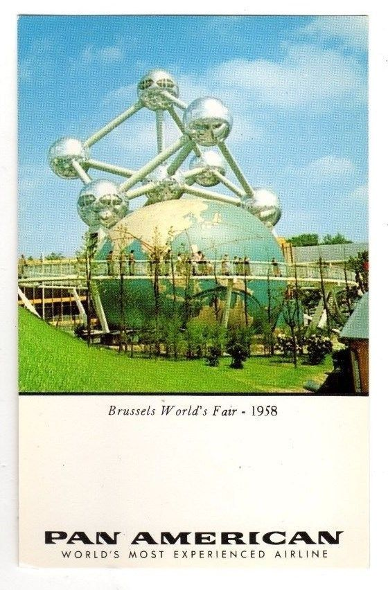 Brussels World's Fair 1958,Postcard (Pan American Airlines)