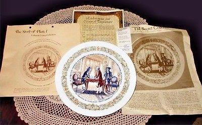 Vintage D'Arceau Limoges SECRET CONTRACT Plate 1st Issue Lafayette Legacy Series