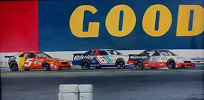 Original NASCAR Racing Oil Painting
