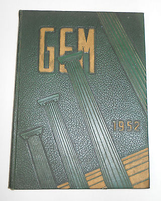 GEM, 1952 Taylor University College Yearbook, Upland, Indiana