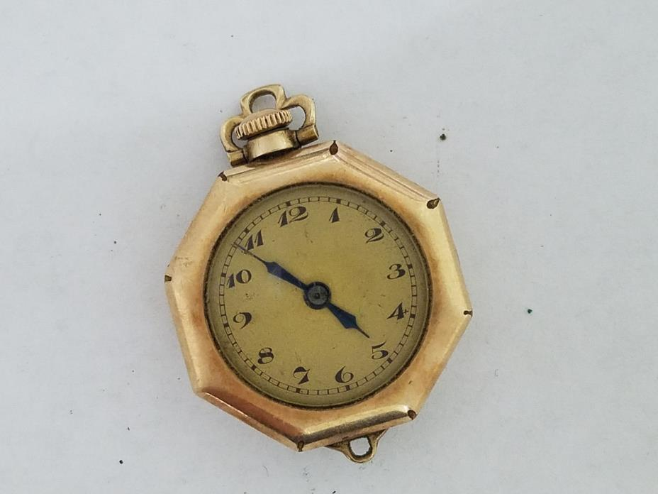 Vintage Warwick 10k Gold Filled Swiss 15j Pocket Watch  - 5818