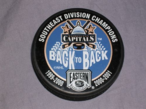 Vintage Washington Capitals Back to Back  Southeast Division  Champions Puck.