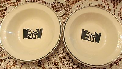 HALL SILHOUETTE SMALL SAUCE DISHES BY TAYLOR,SMITH AND TAYLOR.