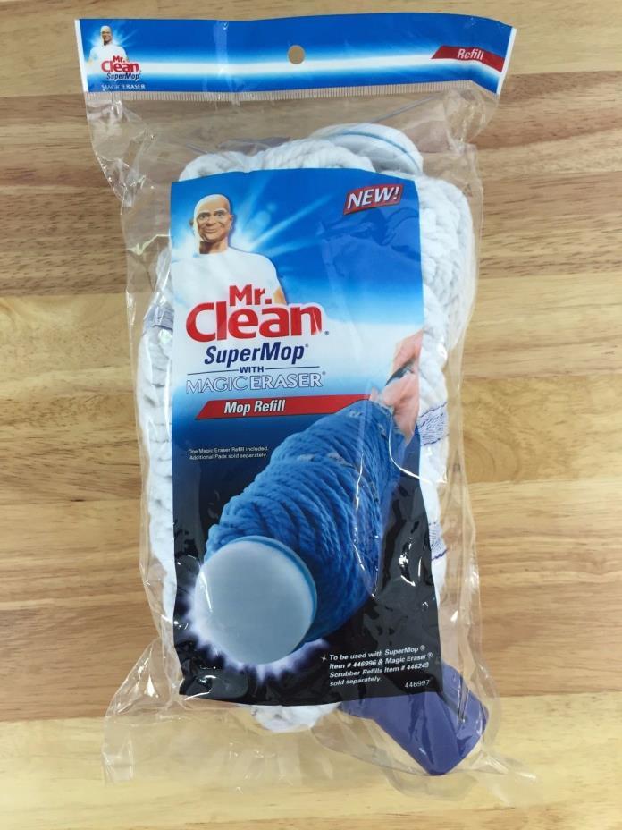 Mr. Clean Super Mop SuperMop Magic Eraser Mop Head Refill White 446997