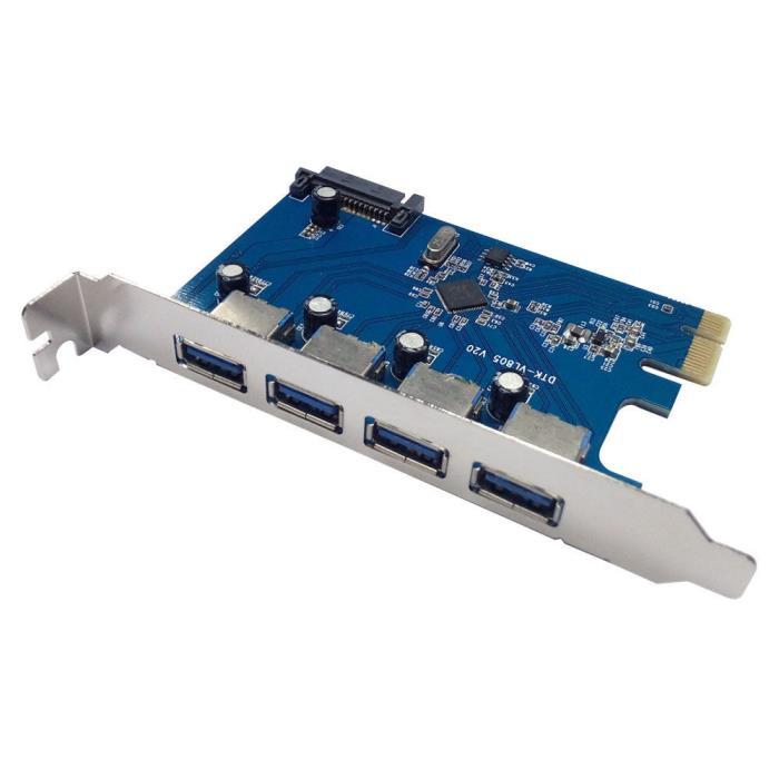 X-MEDIA XM-UB3204 4-Port SuperSpeed USB3.0 PCI Express (PCIe) Controller Card