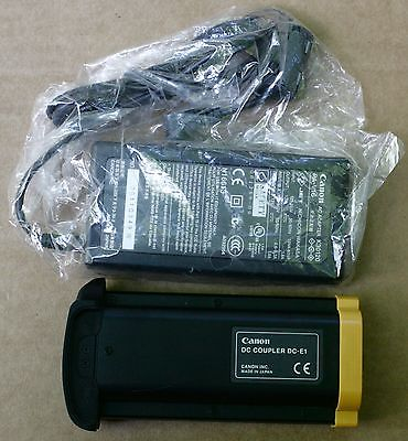 Canon Genuine DC Coupler DC-E1 with AC Adapter k30120 PA-V16  S3109056   NEW!!