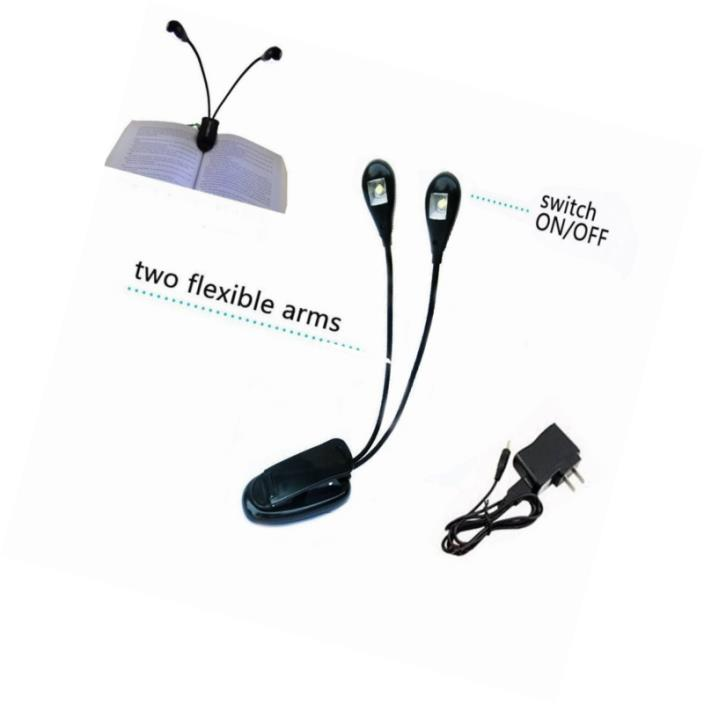 HIYI LED Rechargeable Music Stand Light Book Reading Study Lamp Flexible Eye Car