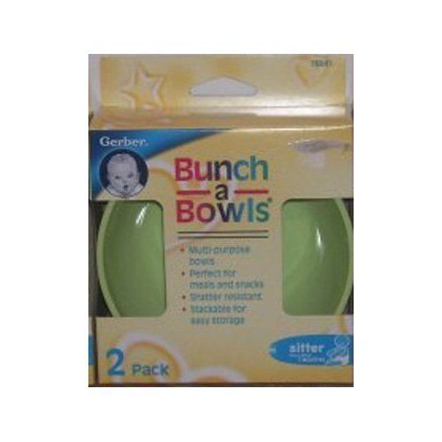 Gerber Bunch-a-Bowls, 2 Ct - Colors May Vary (2 Pack) + Makeup Sponge