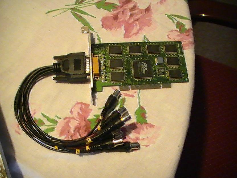PLX 8 PORT CONEXANT 8 CHIP 30FPS PCI VIDEO CAPTURE CARD UBUNTU LINUX ZONEMINDER