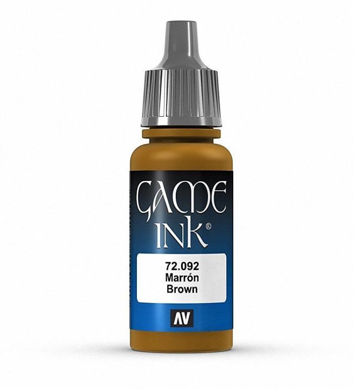 Brand New Vallejo Game Ink Paint 17ml Acrylic - Brown 72.092